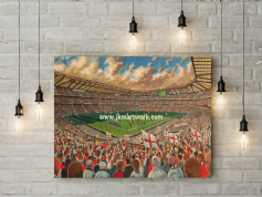 twickenham  canvas a3 size